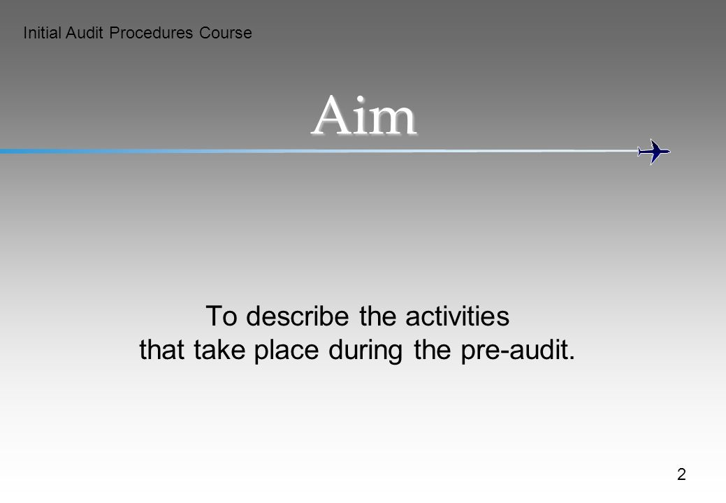 To describe the activities that take place during the pre-audit.