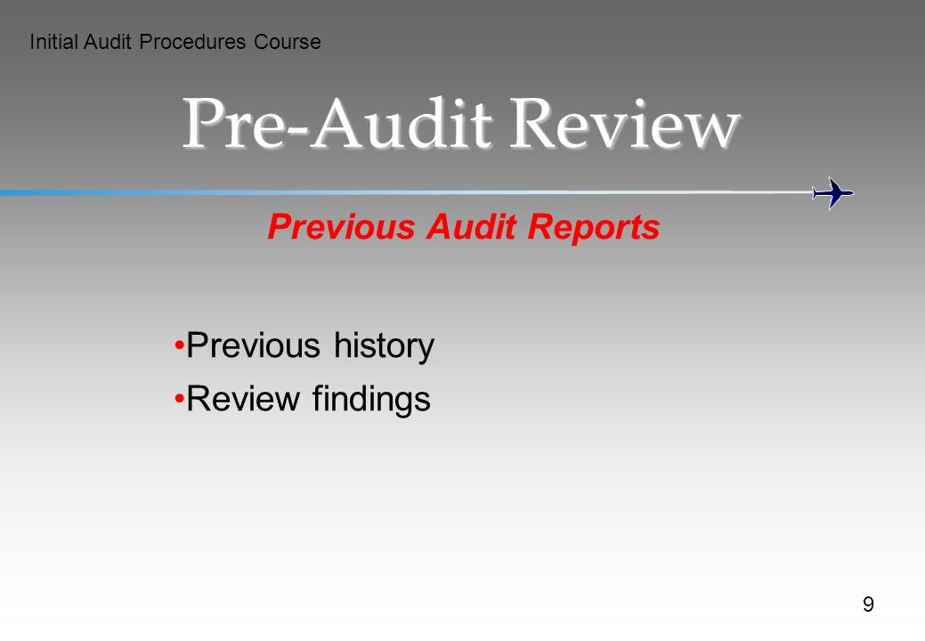 Previous Audit Reports