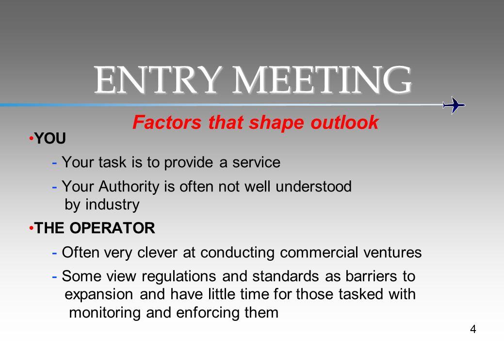 Factors that shape outlook