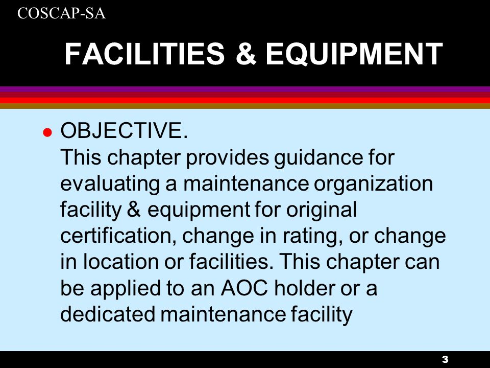 FACILITIES & EQUIPMENT