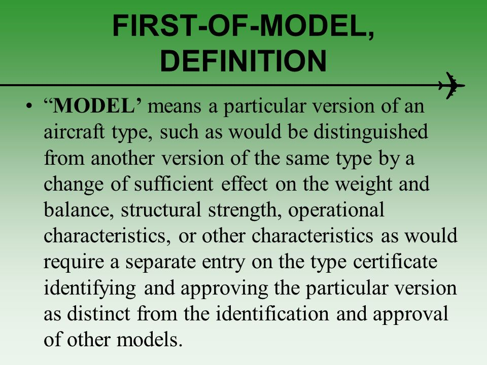 FIRST-OF-MODEL, DEFINITION