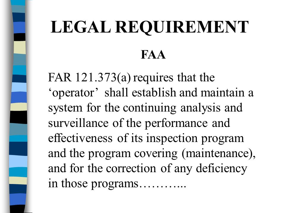 LEGAL REQUIREMENT FAA.