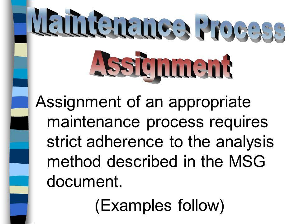 Maintenance Process Assignment.