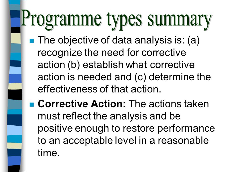 Programme types summary
