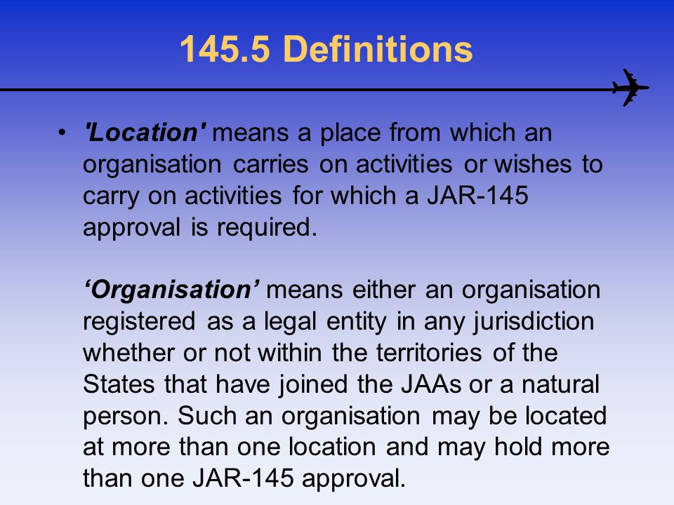145.5 Definitions