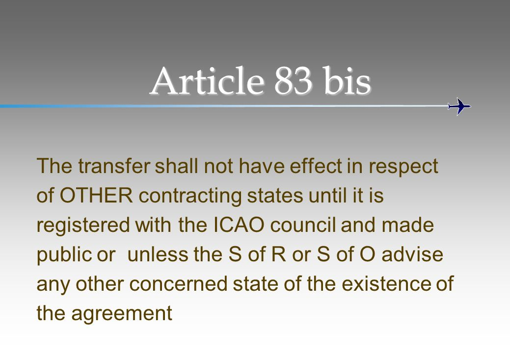 Article 83 bis The transfer shall not have effect in respect