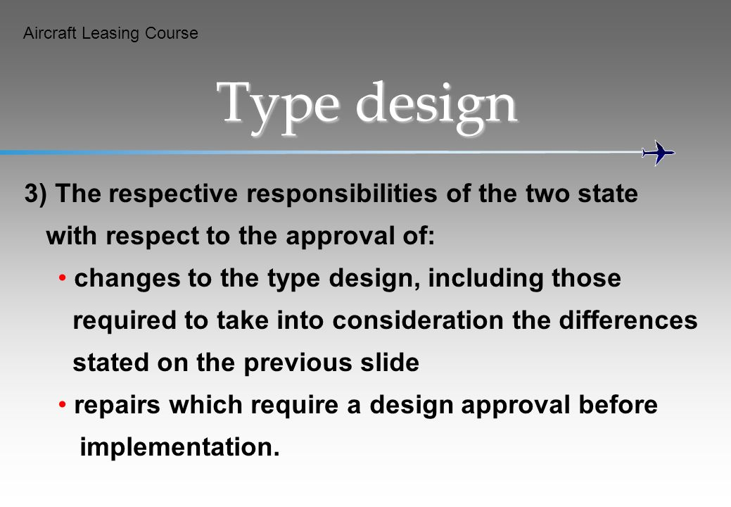 Type design 3) The respective responsibilities of the two state