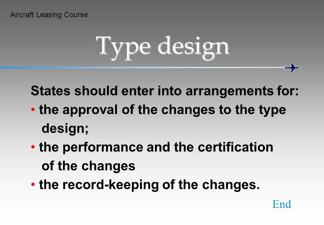 Type design States should enter into arrangements for: