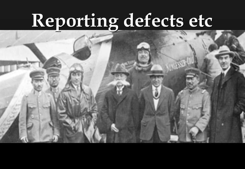 Reporting defects etc Objective: Aircraft Leasing
