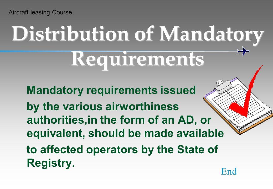 Distribution of Mandatory