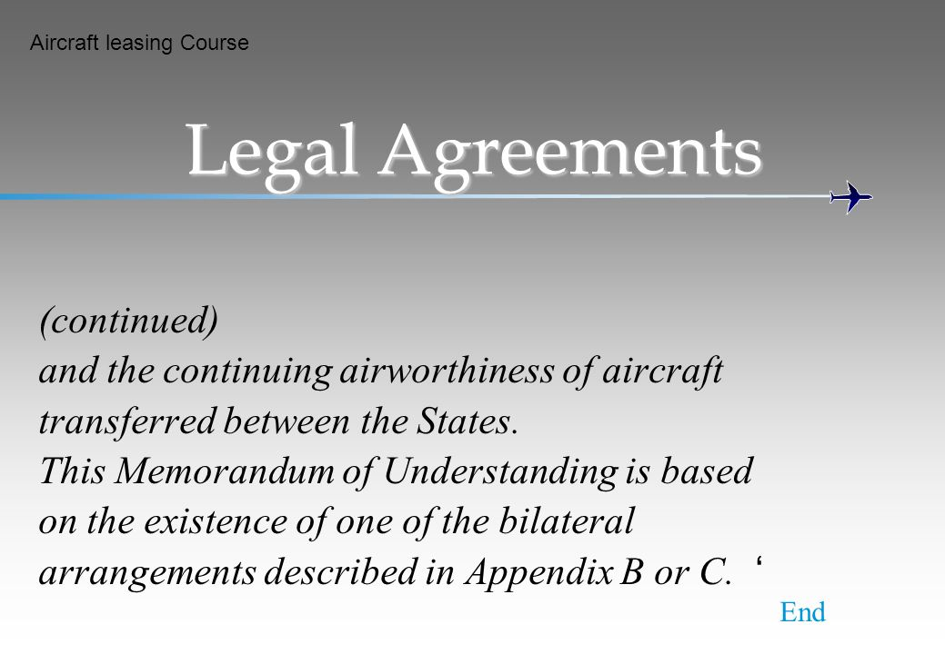 Legal Agreements (continued)