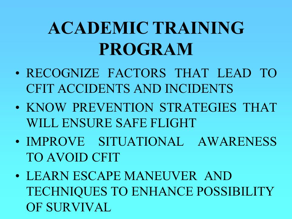 ACADEMIC TRAINING PROGRAM