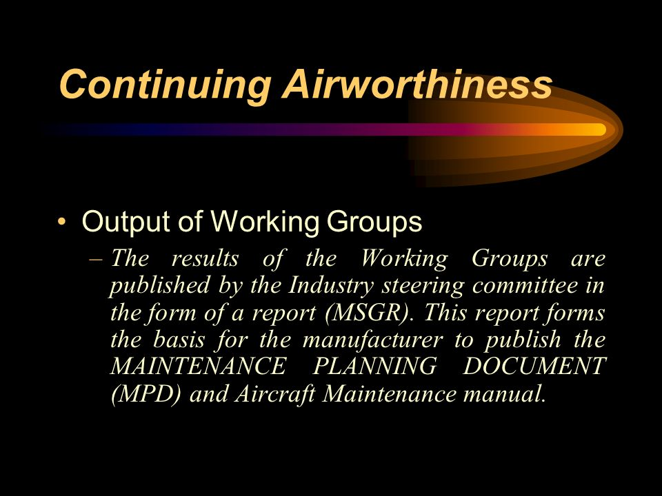 Continuing Airworthiness