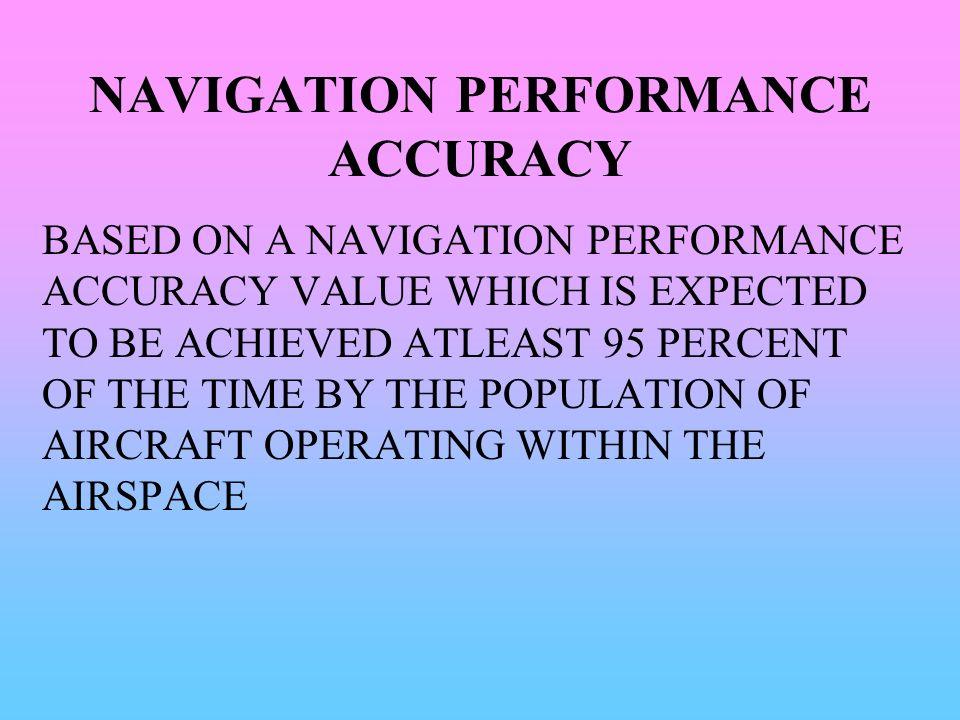 NAVIGATION PERFORMANCE ACCURACY