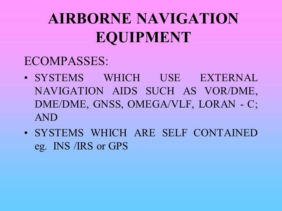 AIRBORNE NAVIGATION EQUIPMENT