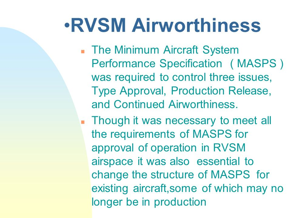 RVSM Airworthiness