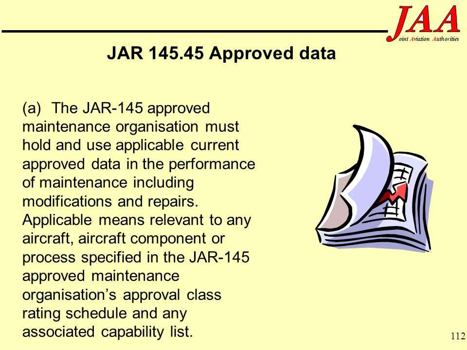 JAR Approved data