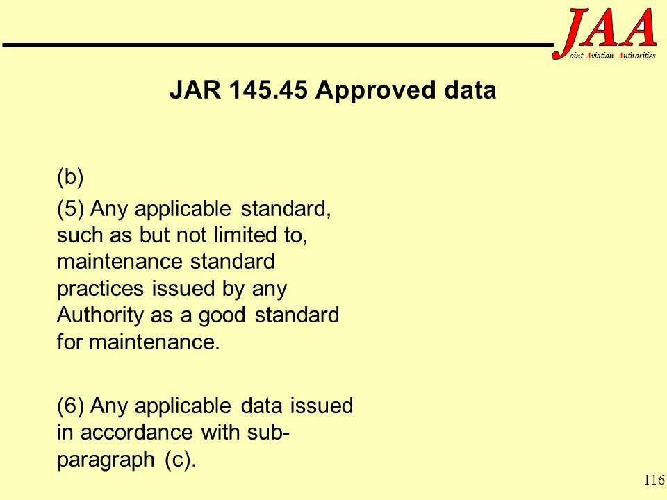 JAR Approved data (b)