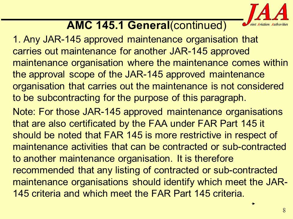 AMC 145.1 General(continued)