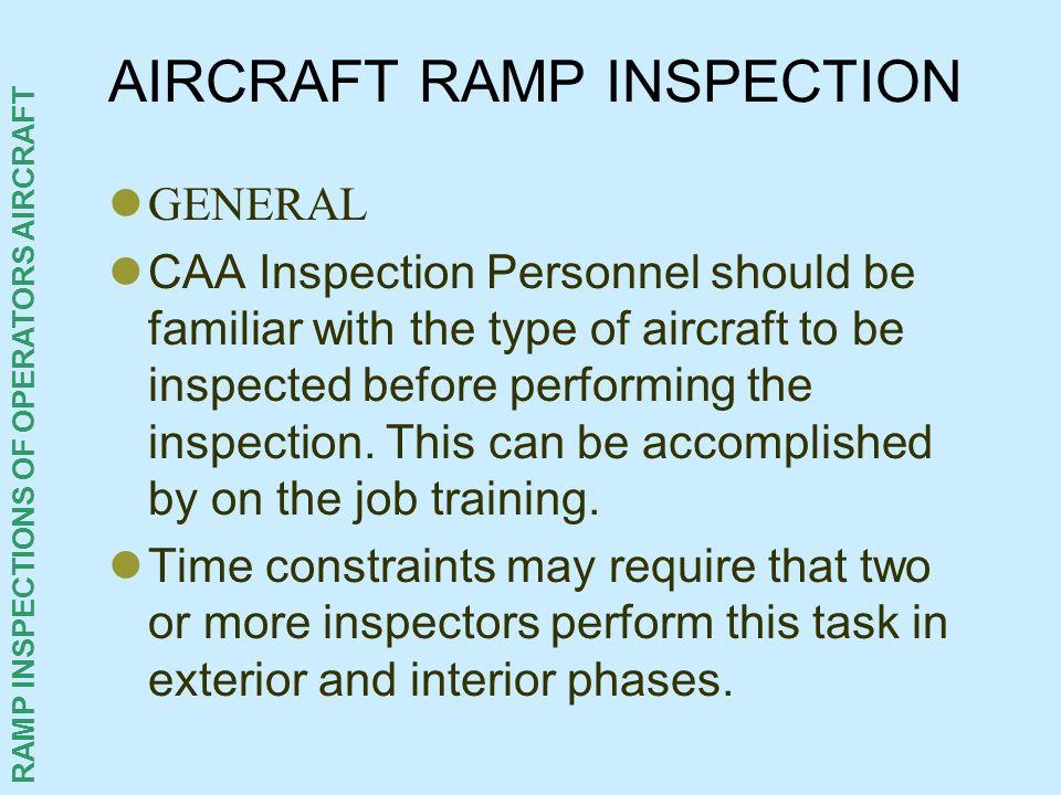 AIRCRAFT RAMP INSPECTION