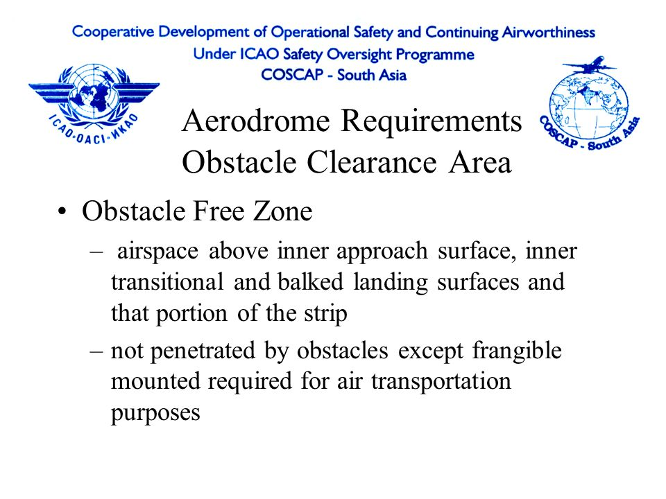 Aerodrome Requirements Obstacle Clearance Area
