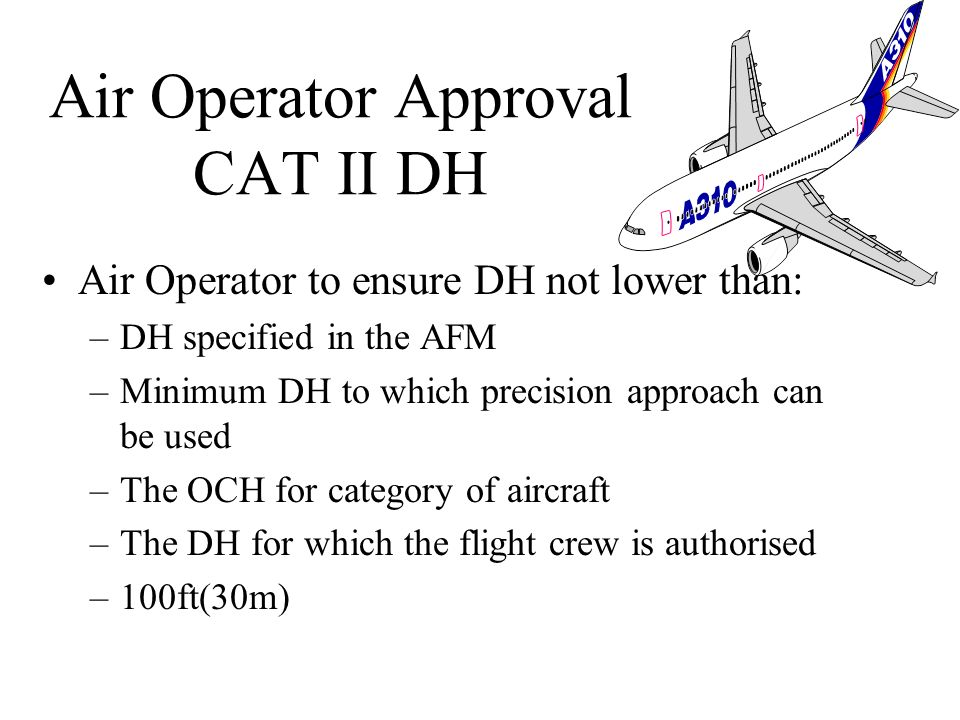 Air Operator Approval CAT II DH