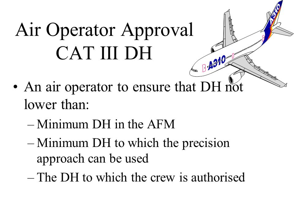 Air Operator Approval CAT III DH