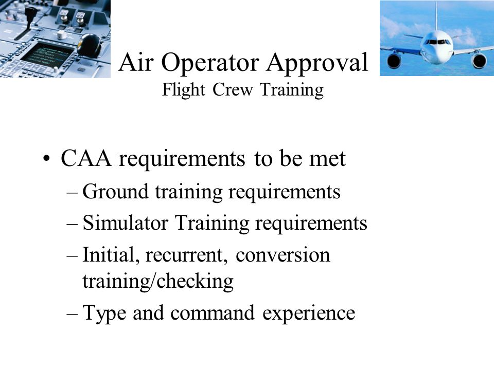 Air Operator Approval Flight Crew Training