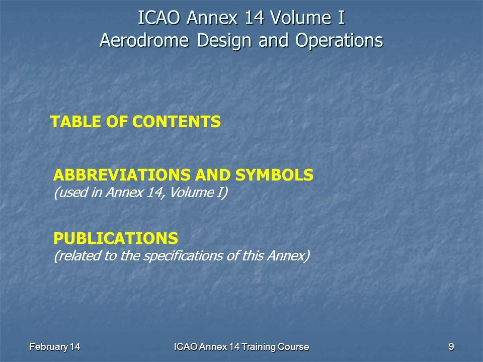 ICAO Annex 14 Volume I Aerodrome Design and Operations