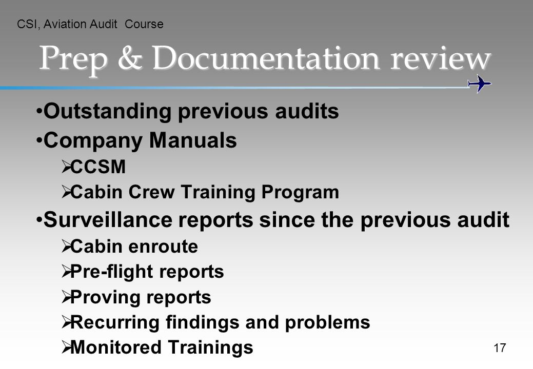 Prep & Documentation review