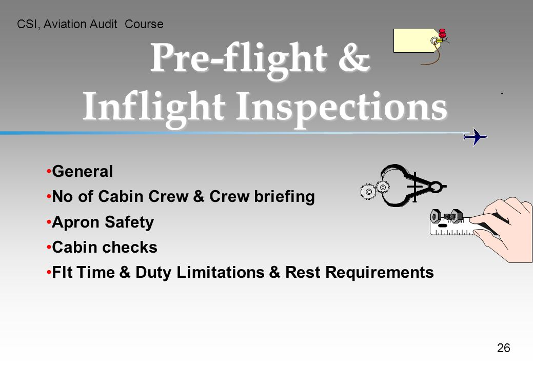 Pre-flight & Inflight Inspections