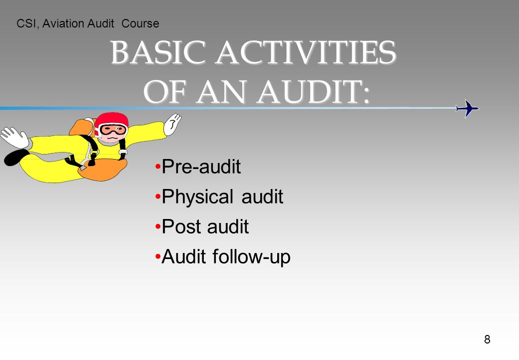 BASIC ACTIVITIES OF AN AUDIT: