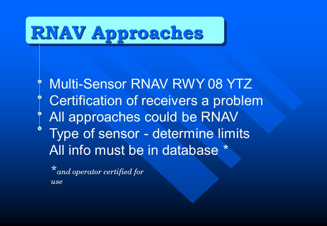 RNAV Approaches Multi-Sensor RNAV RWY 08 YTZ