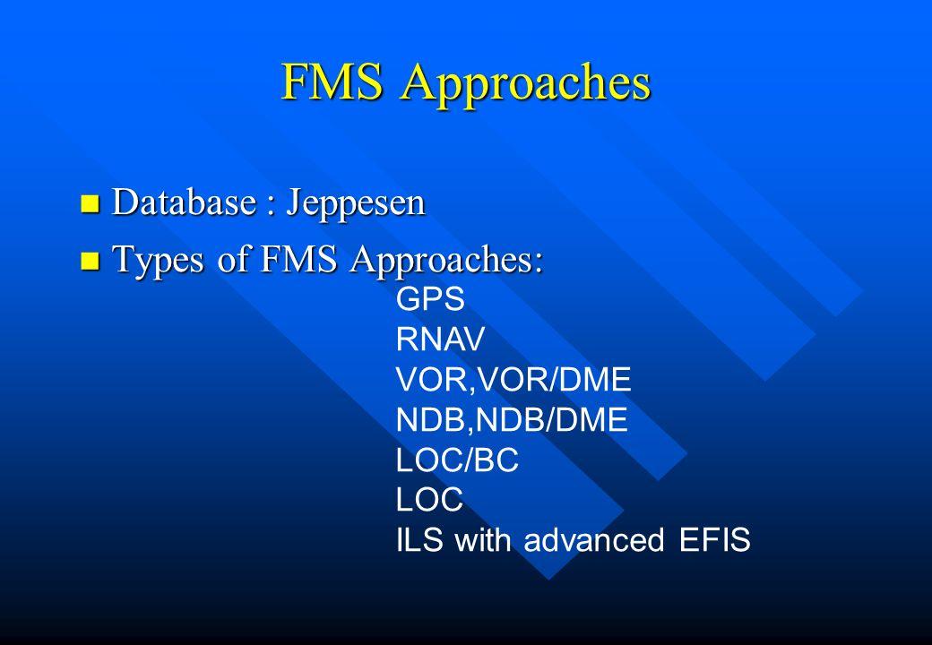 FMS Approaches Database : Jeppesen Types of FMS Approaches: GPS RNAV