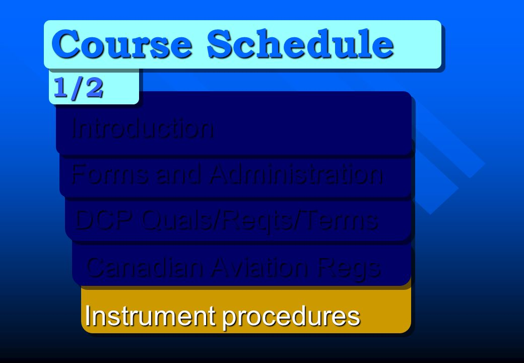 Course Schedule 1/2 Introduction Forms and Administration