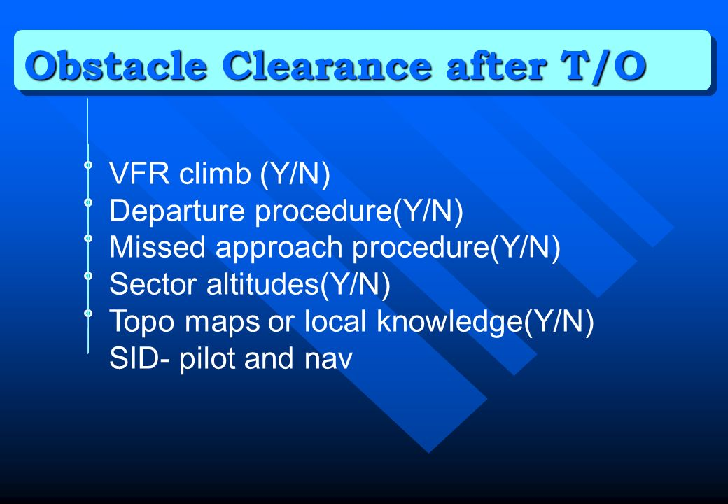 Obstacle Clearance after T/O