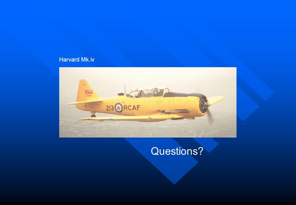 Harvard Mk.iv Questions