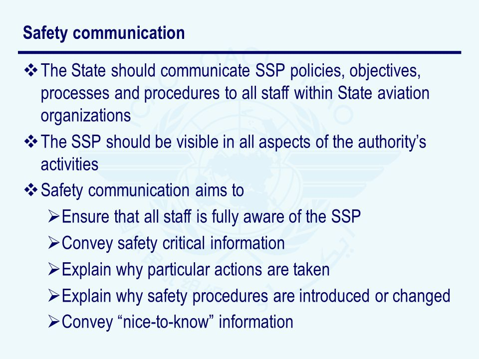 Safety communication