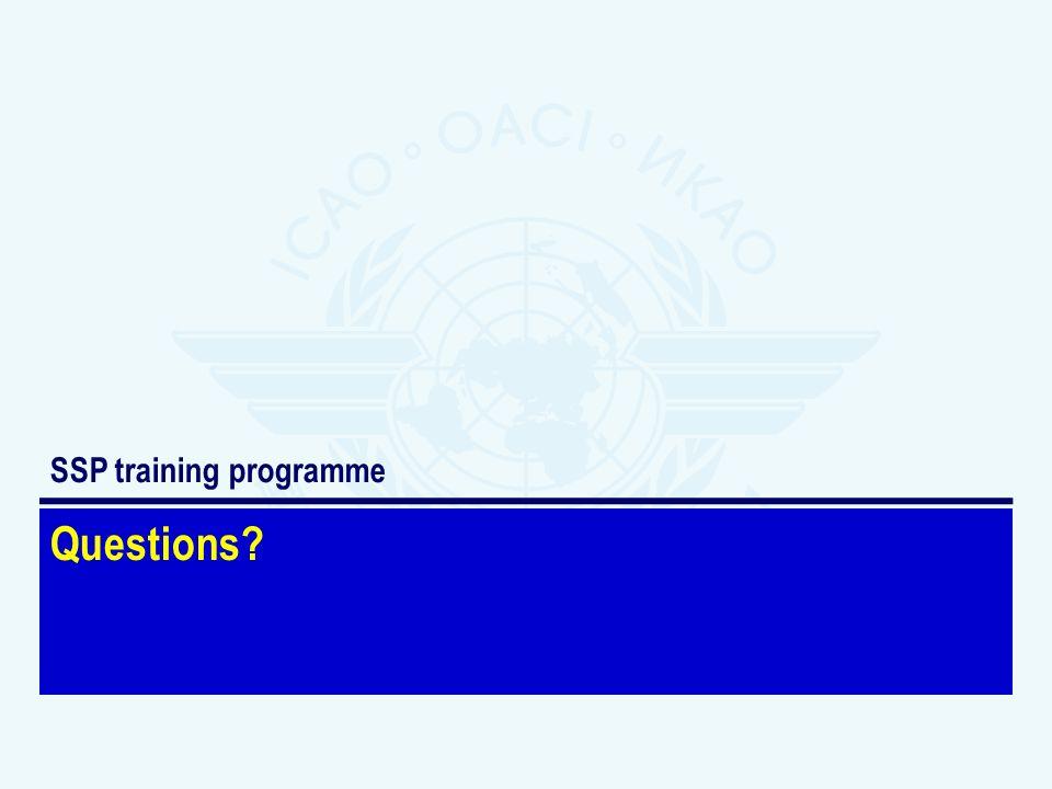 SSP training programme