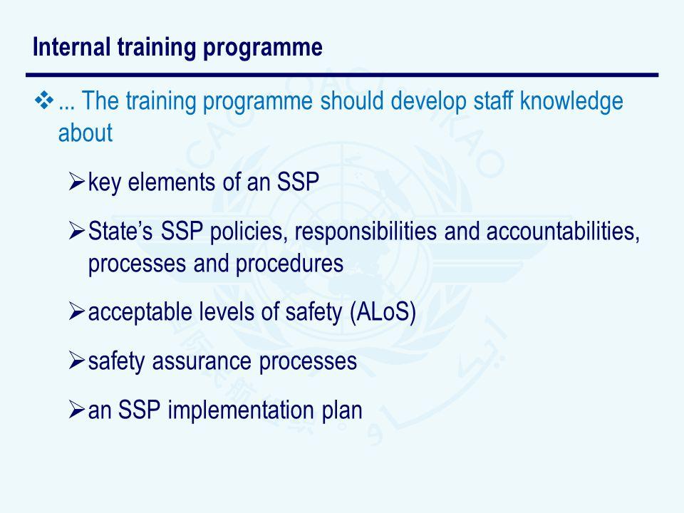 Internal training programme
