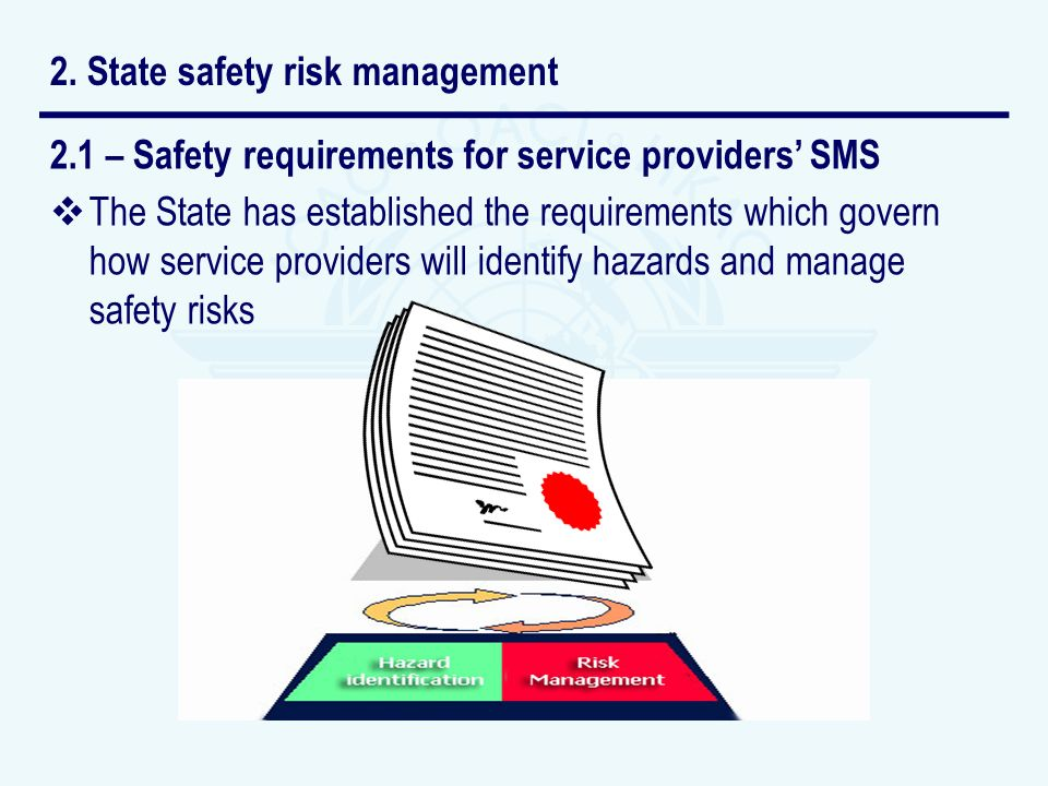 2. State safety risk management