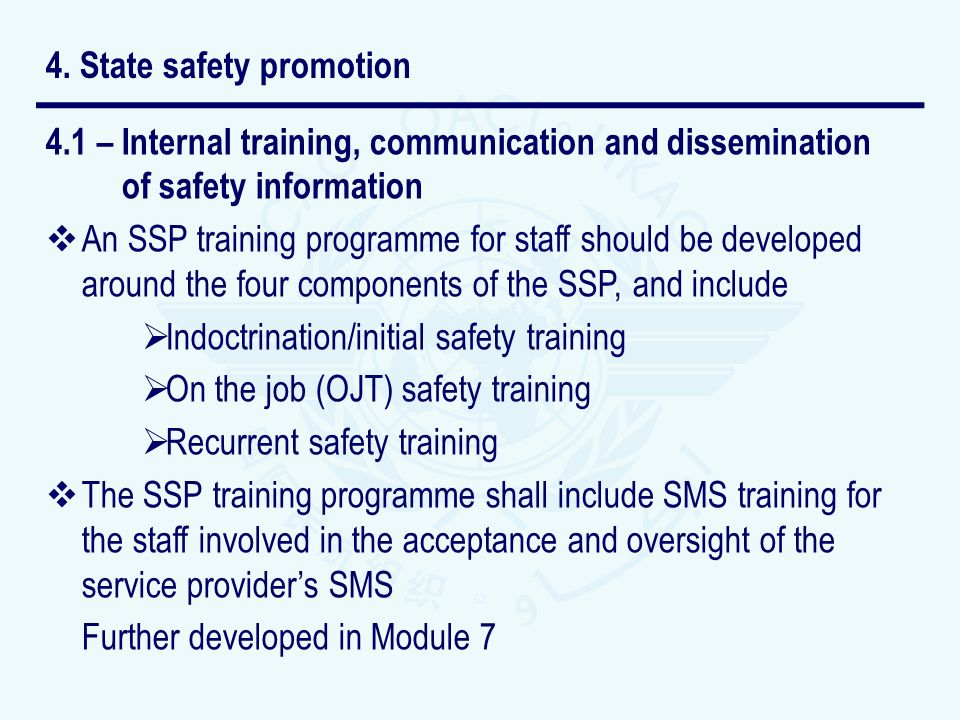 4. State safety promotion
