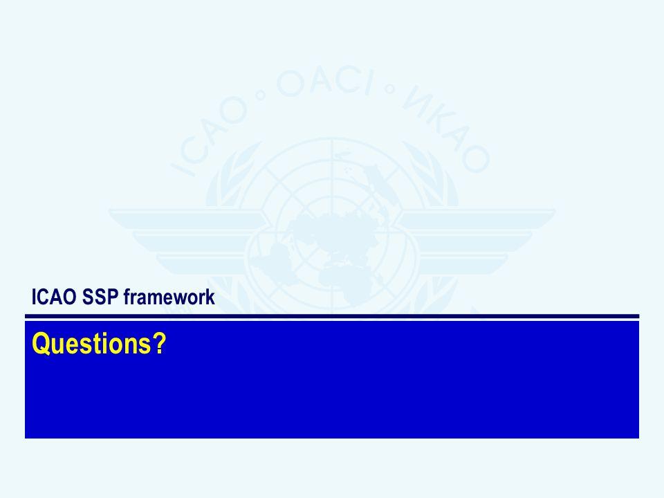 ICAO SSP framework Questions