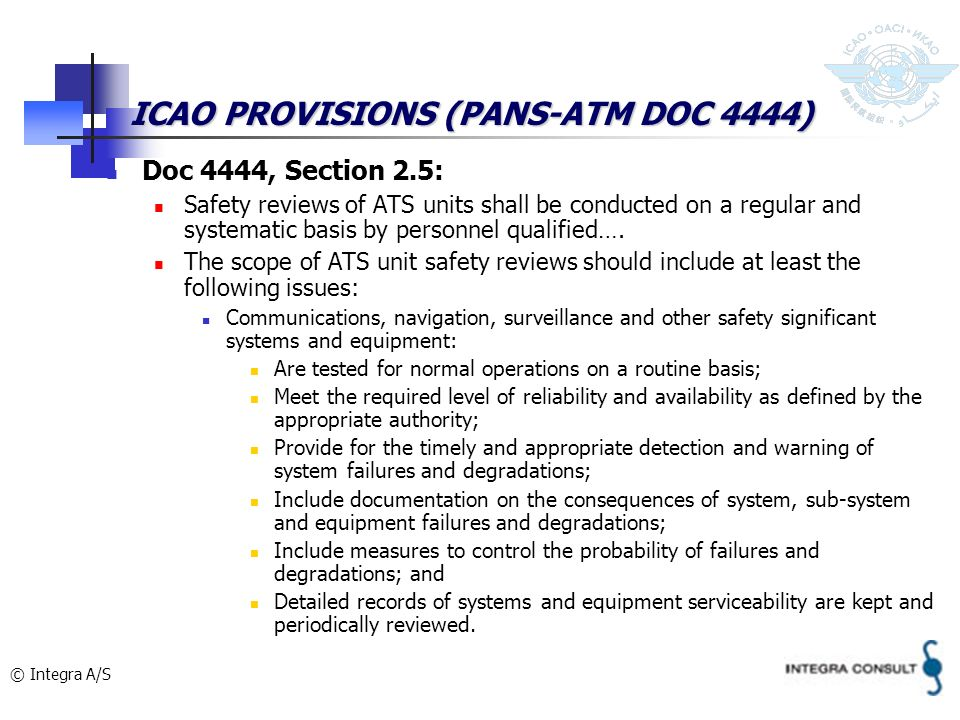 ICAO PROVISIONS (PANS-ATM DOC 4444)