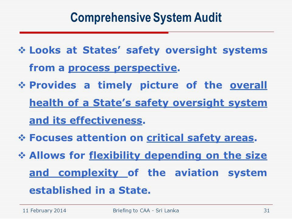 Comprehensive System Audit