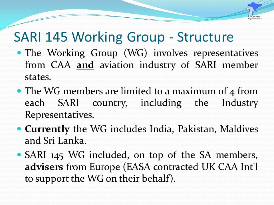 SARI 145 Working Group - Structure