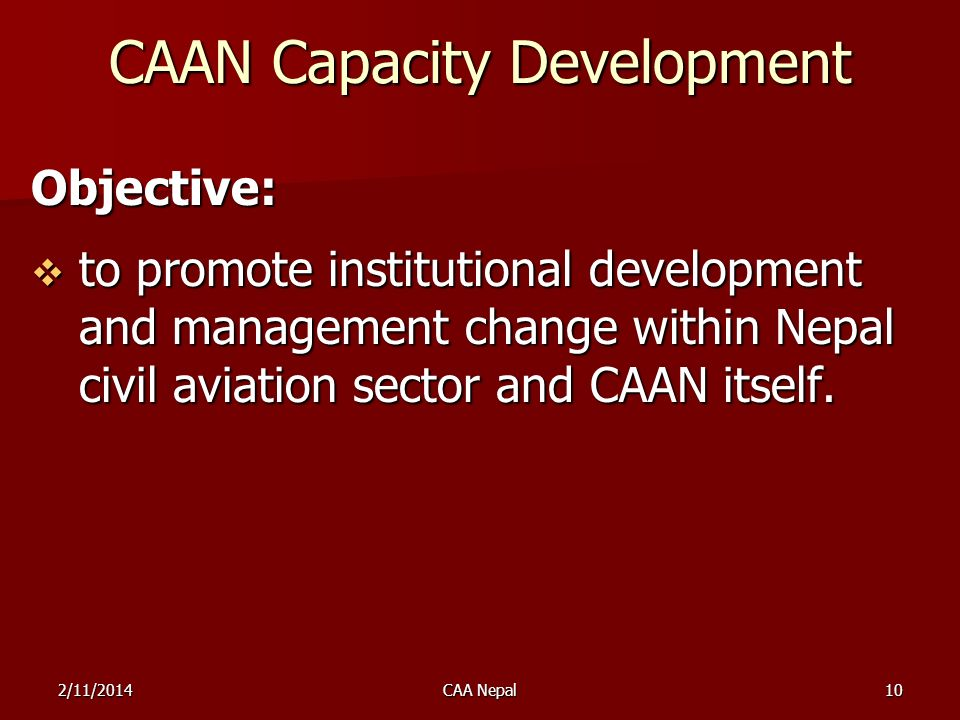 CAAN Capacity Development