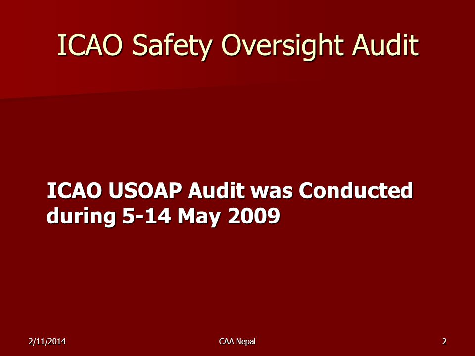 ICAO Safety Oversight Audit