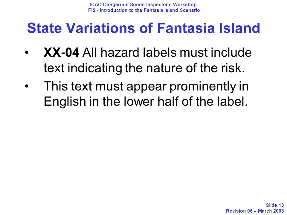 State Variations of Fantasia Island