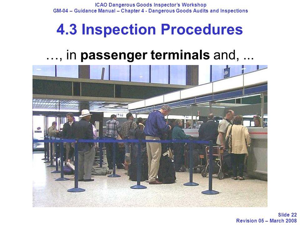 4.3 Inspection Procedures